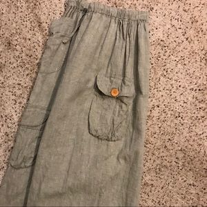 Flax Vintage Small Wide Leg Cropped Pants